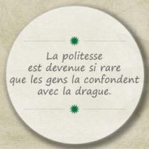 politesse et drague