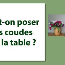 Peut-on poser ses coudes sur la table ? protocole savoir-vivre arts de la table étiquette politesse coach bonnes manières nadine de rothschild lady gentleman
