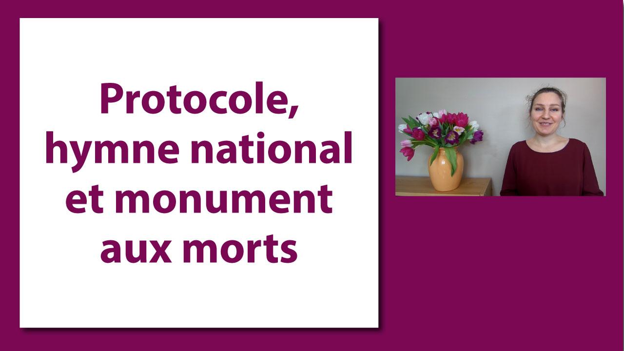 Protocole hymne national et monument aux morts protocoel - Les bonnes manieres a table en france ...