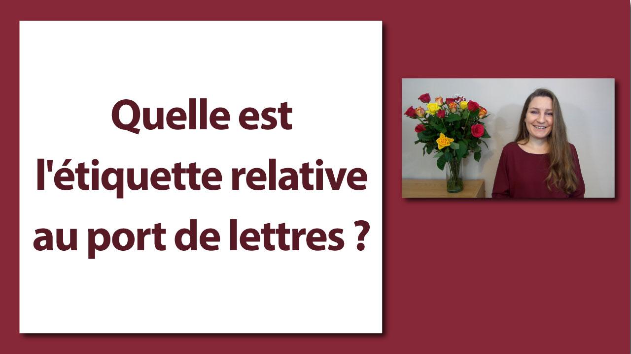Quelle est l 39 tiquette relative au port de lettres - Les bonnes manieres a table en france ...